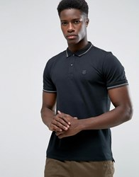 Selected Slim Fit Polo Shirt With Stretch Black