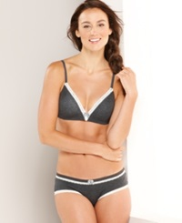 Tommy Hilfiger Modal Wireless Bra Rh78t001 Charcoal Heather