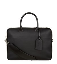 Tom Ford Grained Leather Briefcase Unisex Black