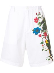 Dsquared2 Floral Effect Shorts White