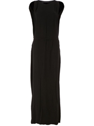 Lost And Found Cut Out Sleeve Maxi Dress Black
