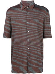 Missoni Shortsleeved Button Shirt Brown