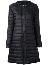 Twin Set Padded Hooded Coat Black