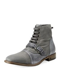 John Varvatos Fleetwood Buckle Cricket Boot Gray