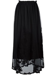 Blugirl Embroidered Tulle Skirt Black