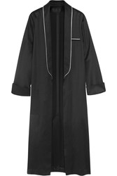 Haider Ackermann Peignor Satin Coat Black