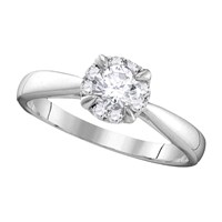 Cosanuova Diamond Solitaire Ring In 14Kt White Gold