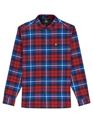 Lyle And Scott Checked Flannel Shirt Navy Red