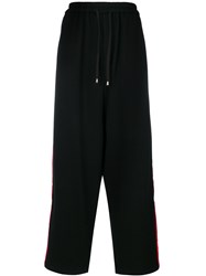 Unconditional Side Stripe Loose Trousers Black