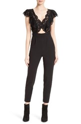 Rebecca Taylor Women's Lace And Silk Jumpsuit