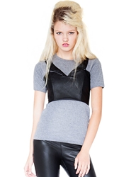Pixie Market Clean Cut Leather Bustier