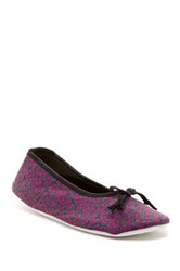 Isaac Mizrahi Quincy Floral Slipper Purple