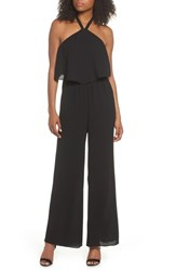 Ali And Jay Meet Me At Vbw Halter Jumpsuit Black