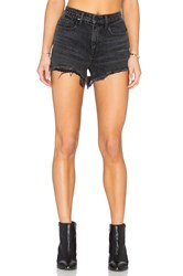 Denim X Alexander Wang Alexander Wang Bite High Rise Frayed Jean Shorts Black