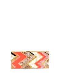 Natalie Rectangle Shell Minaudiere Coral Multi Coral Multi Rafe