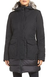 The North Face Women's Tuvu Water Repellent Parka With Faux Fur Trim Tnf Black