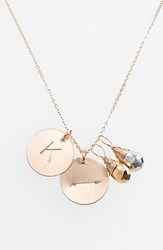 Women's Nashelle Pyrite Initial And Arrow 14K Gold Fill Disc Necklace Gold Pyrite Silver Pyrite K