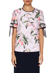 Ted Baker Cathe Peach Blossom Top Light Pink