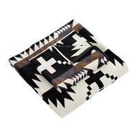 Pendleton Iconic Jacquard Towel Spider Rock Black And White
