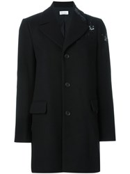 Red Valentino Single Breasted Coat Black