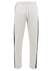 Reigning Champ Side Stripe Cotton Jersey Track Pants Grey
