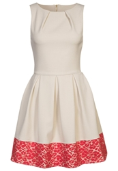 Closet Cocktail Dress Party Dress Stone Coral Off White