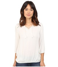 Mavi Jeans Long Sleeve Blouse Antique White Women's Blouse