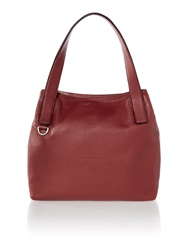 Coccinelle Mila Burgundy Tote Bag