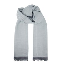 Sandro Double Sided Scarf Blue