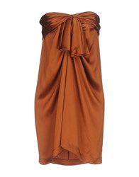 Aquilano Rimondi Short Dresses Brown
