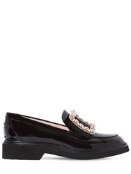 Roger Vivier 30Mm Tres Patent Leather Loafers Black