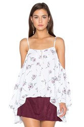 Bishop Young Cold Shoulder Peasant Top White
