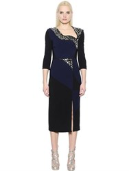 Antonio Berardi Embellished Stretch Crepe Cady Dress