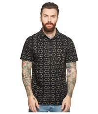 Vissla Thresher Short Sleeve Printed Woven Top Black Clothing