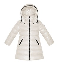 Moncler Moka Long Quilted Puffer Coat Cream Ivory