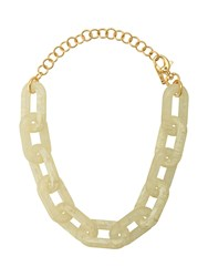 Lele Sadoughi Shell Chain Necklace White