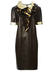 Petar Petrov Frilly Collar Dress Black