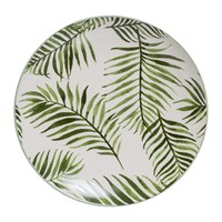 Bloomingville Jade Stoneware Fern Plate Natural Green 20Cm