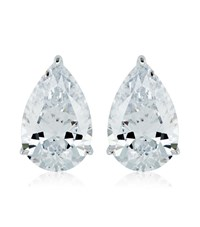 Carat 2Ct Pear Cut Stud Earrings Female