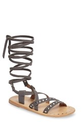 Charles By Charles David Women's Steeler Ankle Wrap Sandal Light Grey Leather