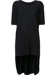 Barbara I Gongini Asymmetric Long T Shirt Black