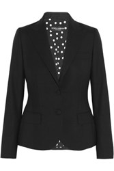 Dolce And Gabbana Stretch Wool Blazer Black