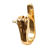 Pols Potten Gold Hands Wall Hook Thumbs Up