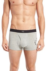 Calvin Klein Men's 'Origins' Low Rise Stretch Cotton Trunks Heather Grey