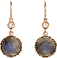 Irene Neuwirth Women's Gemstone Double Drop Earrings Colorless