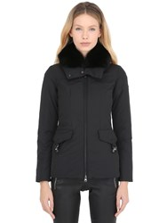 Peuterey Felicity Taffeta Down Jacket W Fox Fur