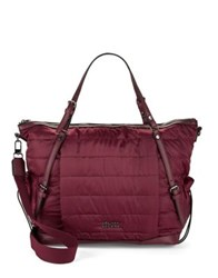 Sol And Selene Rain Check Quilted Tote Bordeaux