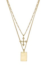 Luv Aj The Diamond Kite Dog Tag Necklace Metallic Gold