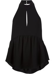 Elizabeth And James Flared Backless Tank Black