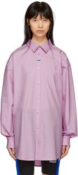 Martine Rose Pink Oxford Shirt